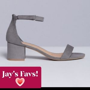LANE BRYANT - NWT Grey Block Heel